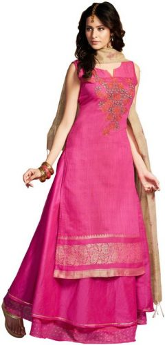 Kurti with Skirts for Indian Festivals- All pink 31