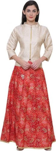 Kurti with Skirts for Indian Festivals- Kimono style 33