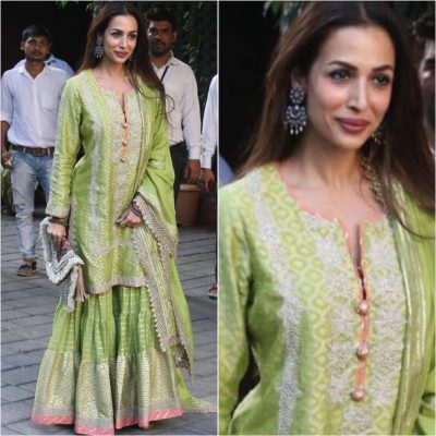 Kurti with Skirts for Indian Festivals- Malaika Arora