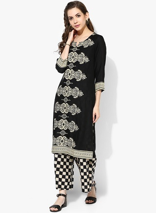 11 black kurtas for women