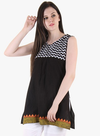 14 black kurtas for women
