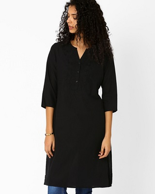 15 black kurtas for women