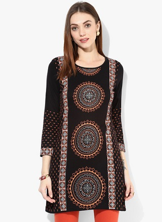 4 black kurtas for women
