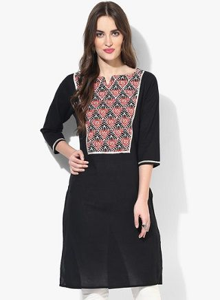 9 black kurtas for women