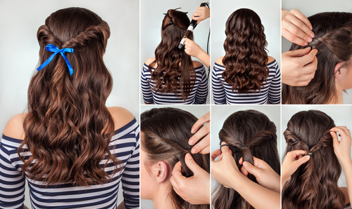 5 different hairstyles