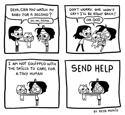 7 funny comics about girls