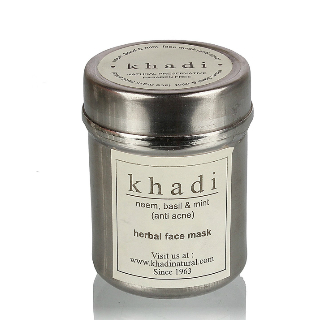 3 face packs for glowing skin - Khadi Neem Basil and Mint Face Mask