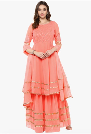 1 anarkali suits for the wedding guest
