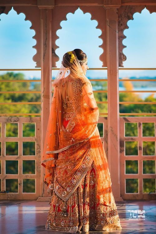 2 lehenga colours for a day wedding