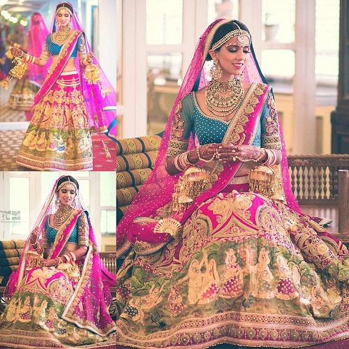 5 lehenga colours for a day wedding