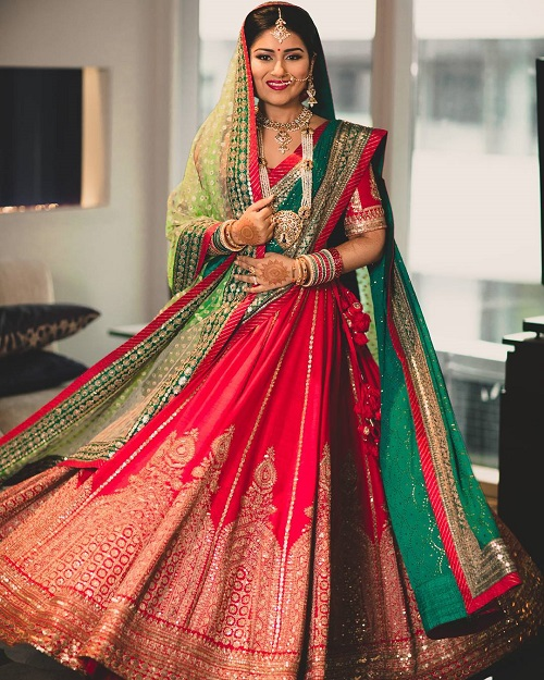 6 lehenga colours for a day wedding