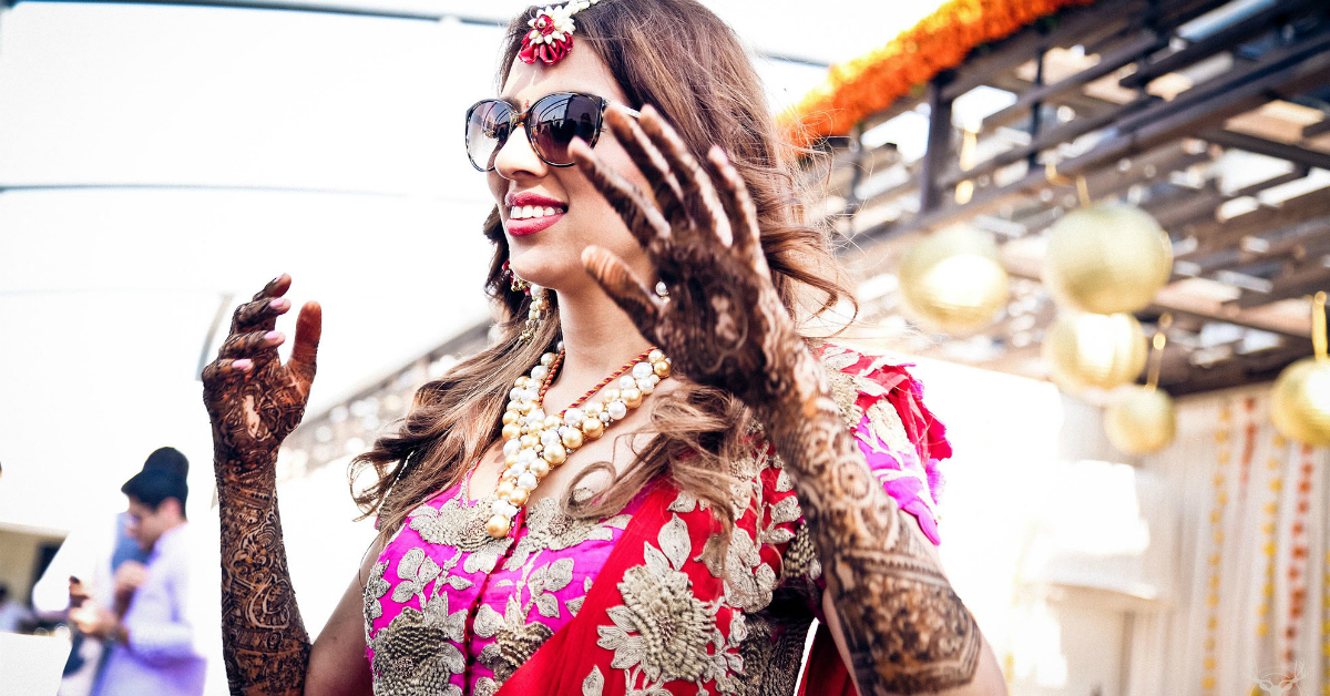 10 Brides Who Wore Stunning Mehendi Outfits (Not Just Lehengas!)