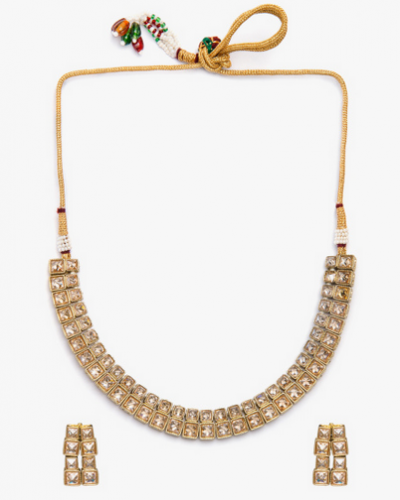 Golden Brass Necklace Set