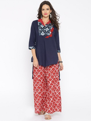 2 kurtis to wear with jeans