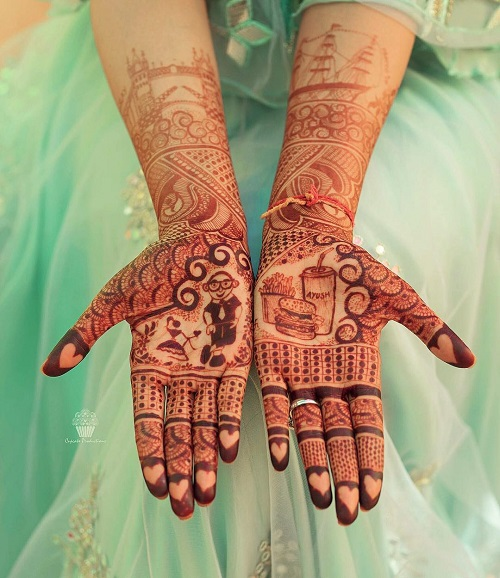 2 tell your love story with your bridal mehendi