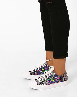 3 printed sneakers for college girls