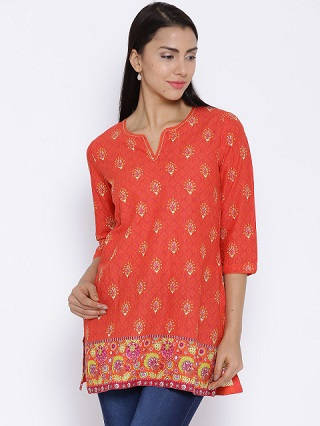 6 bright coloured kurtis