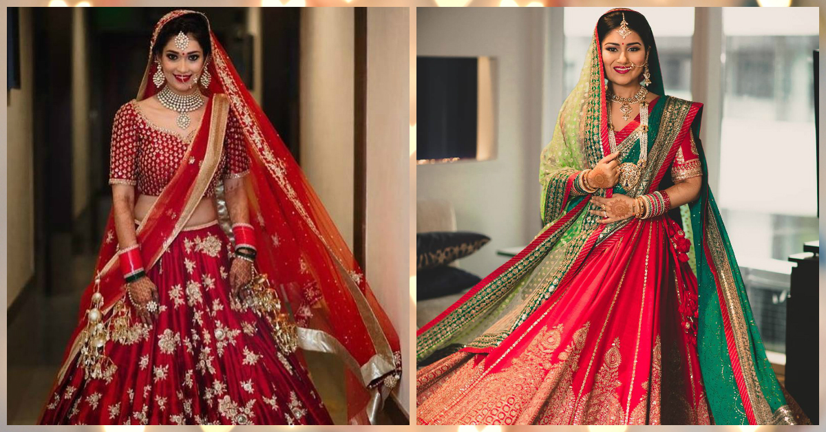The Most *Stunning* Red Lehengas We Spotted On Real Brides!