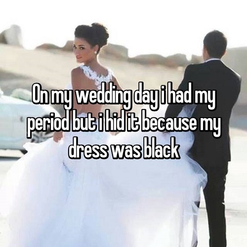 period on your wedding day 4