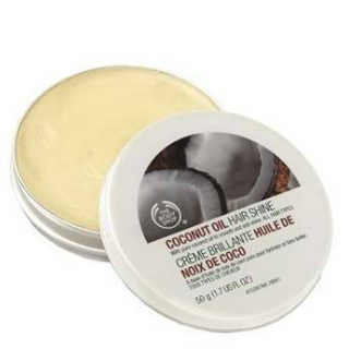 6 beauty products - the body shop Coconut Oil Hair Shine
