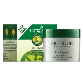 8 skincare products - Biotique Bio Papaya Revitalizing Tan-Removal Scrub