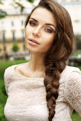 7 hair look thicker - pancake your braid