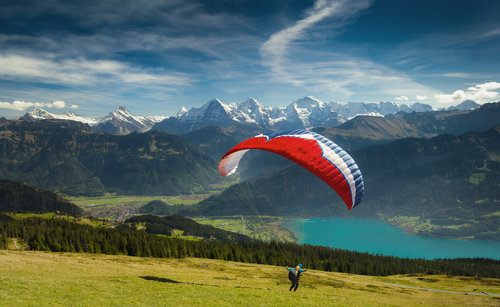 7. travel bucket list - paragliding