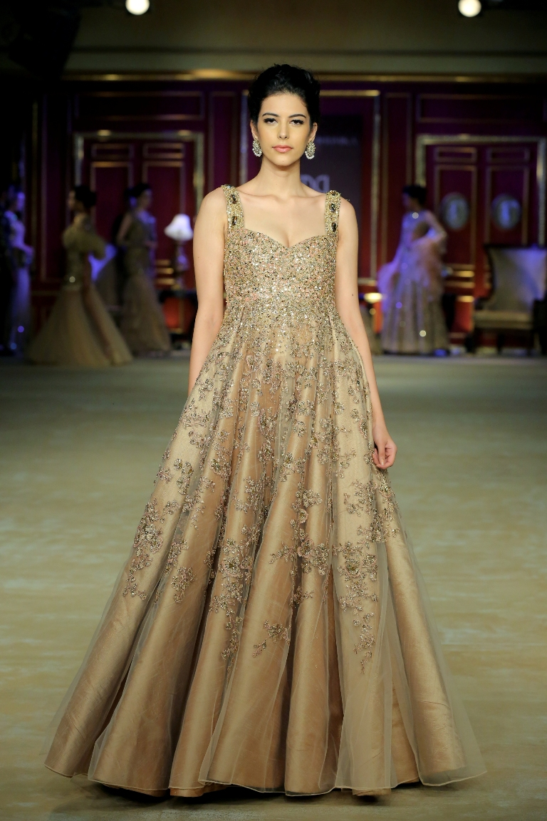 9-designer outfits-golden gown