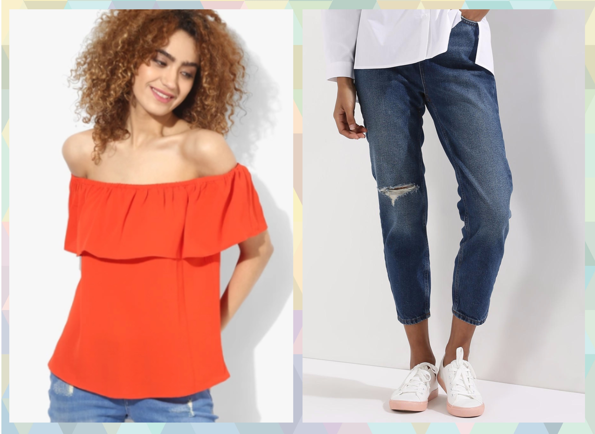 4-outfits for when you are on your period-Mom jeans all the way!