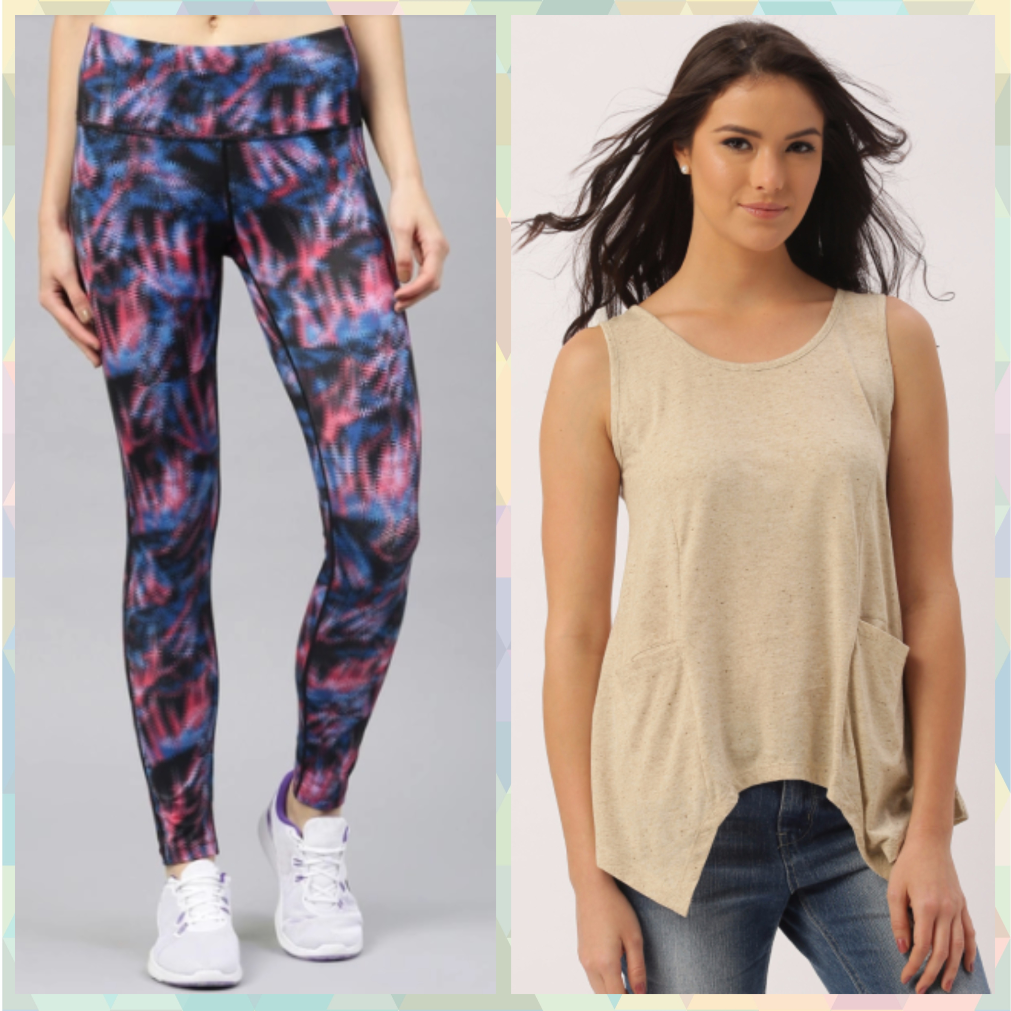 5-outfits for when you are on your period-Printed tights   Cool Tees