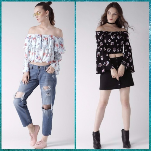 5 Off shoulder tops