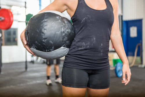 9 exercises for toned arms medicine ball