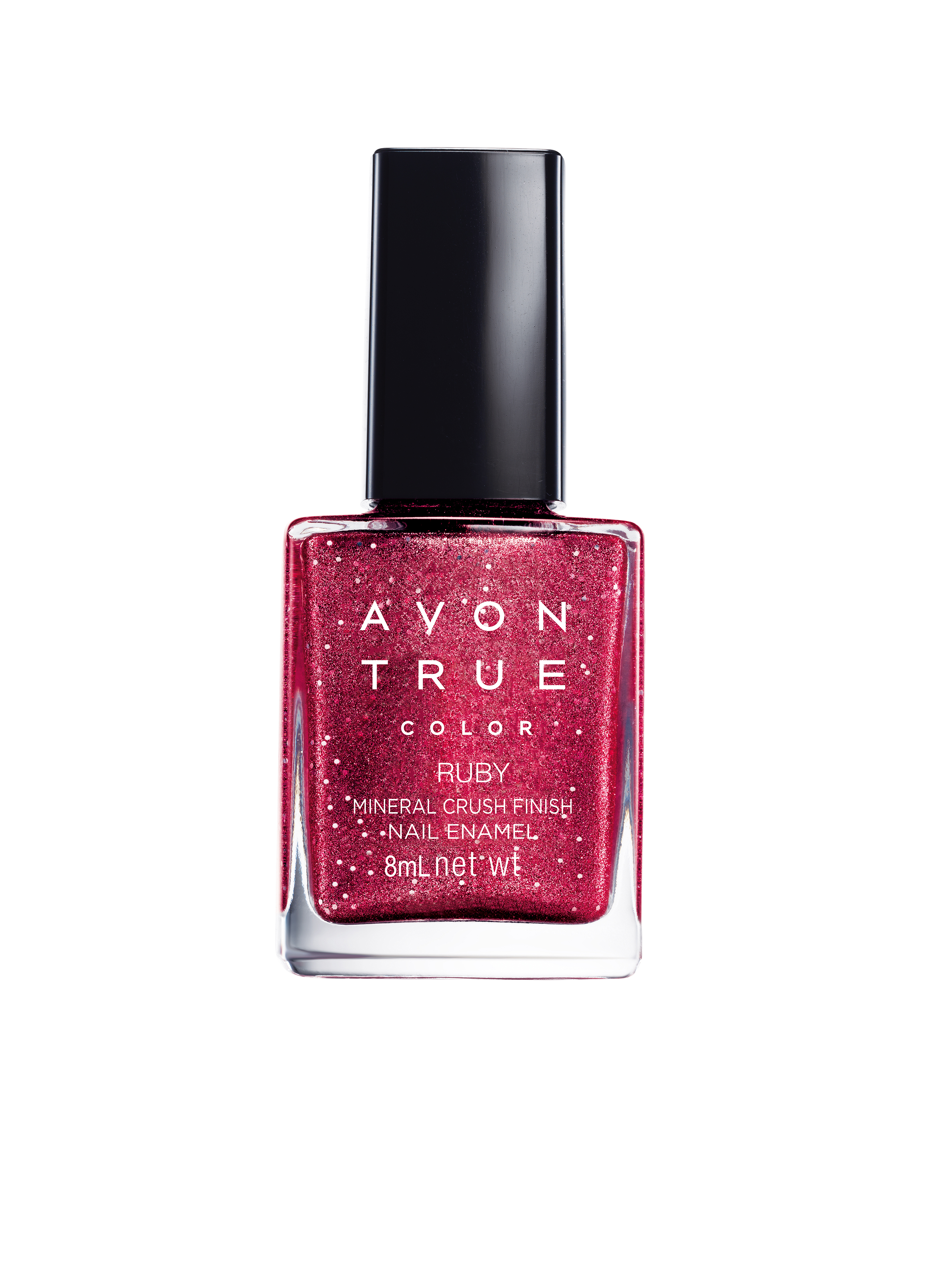 7 nail paints - Avon True Color Mineral Crush ruby