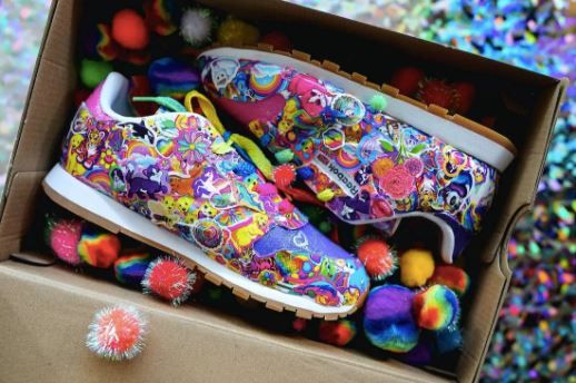 1 lisa frank and reebok collab - shoes