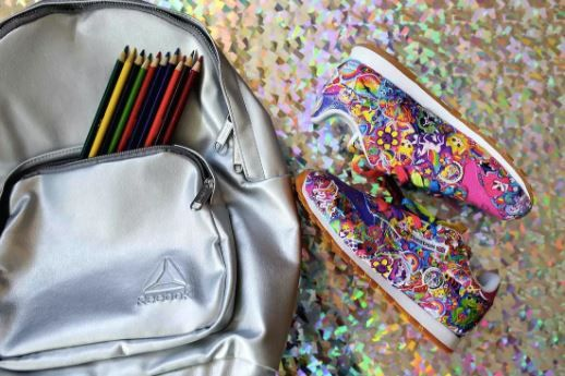 3 lisa frank and reebok collab - shoes