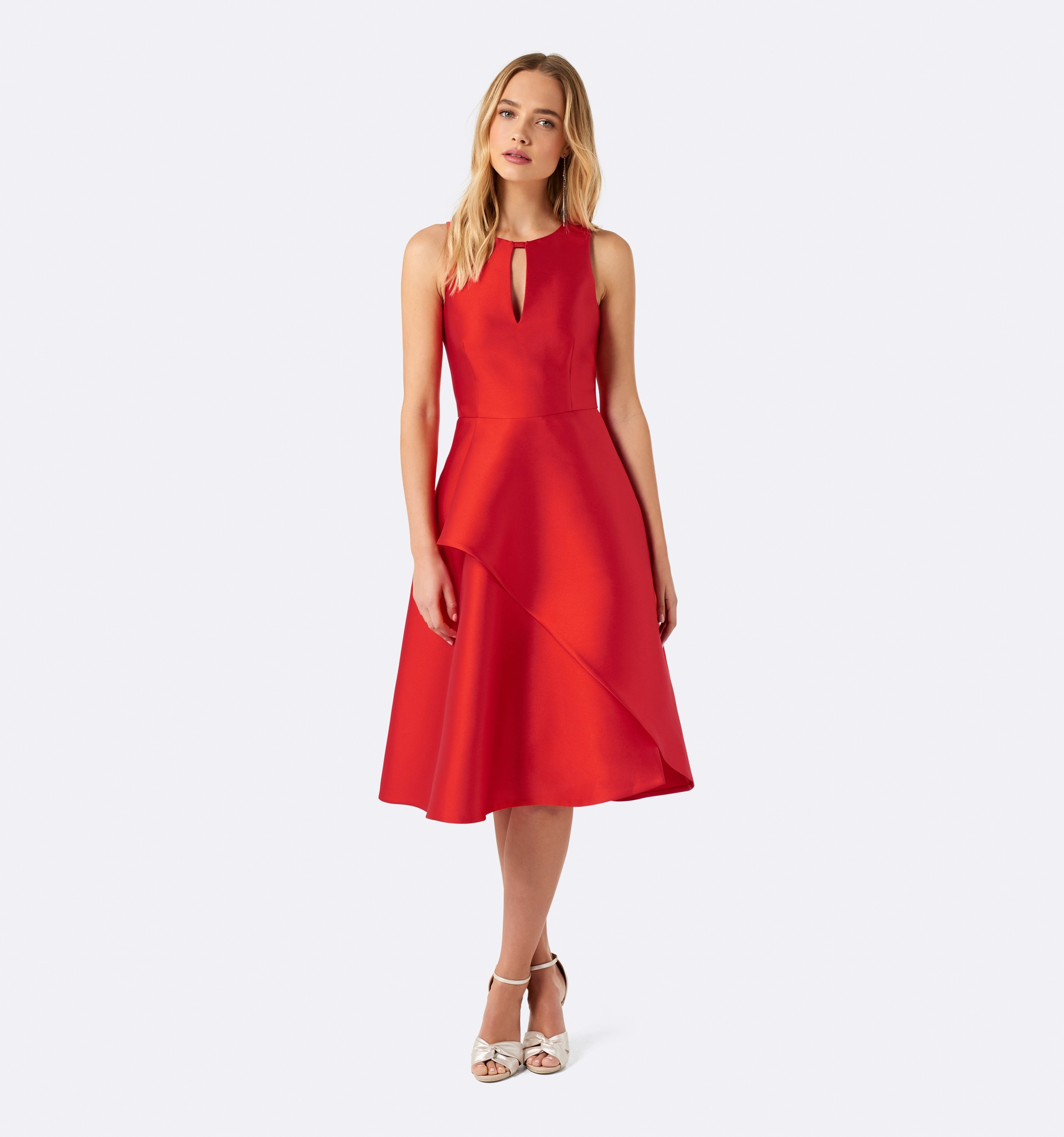 3 best red dresses forever new structured dress