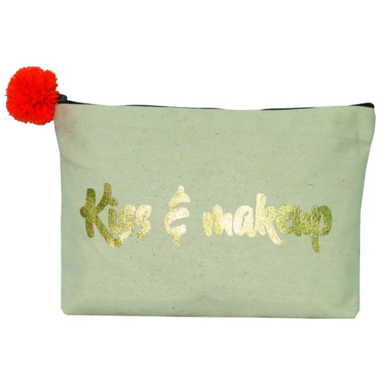 4. beauty hacks -kiss and makeup pouch