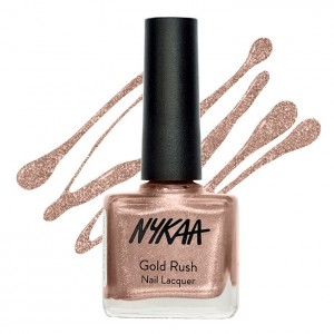5-makeup palette-nykaa nail paint gold rush