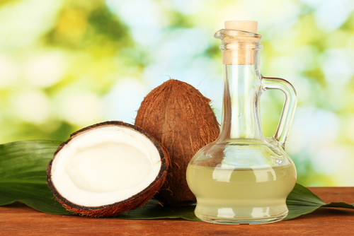 1 coconut oil - coconuts on table
