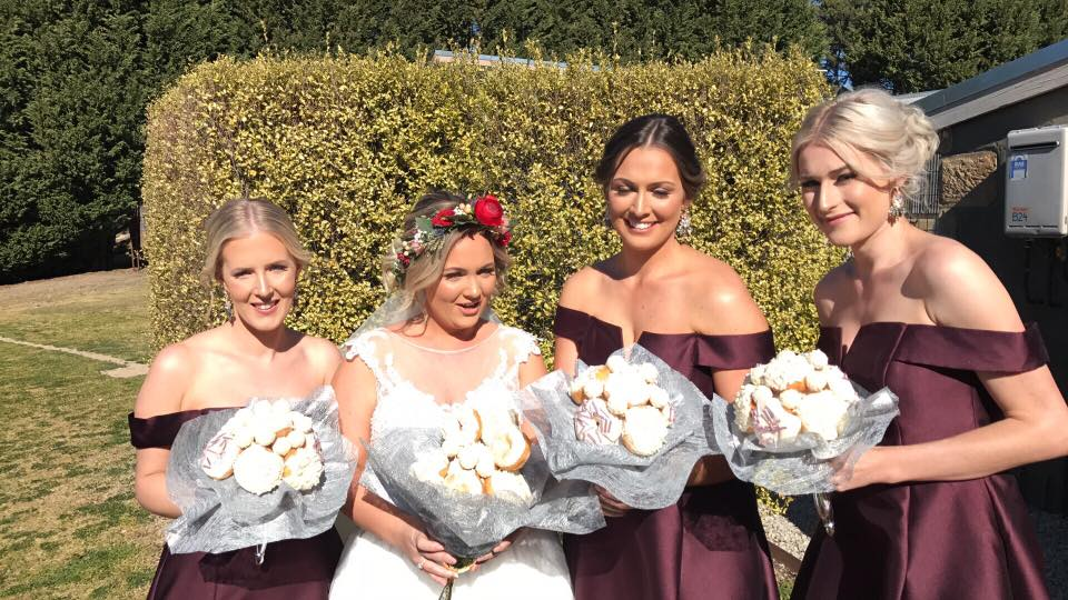 1 bride with donut