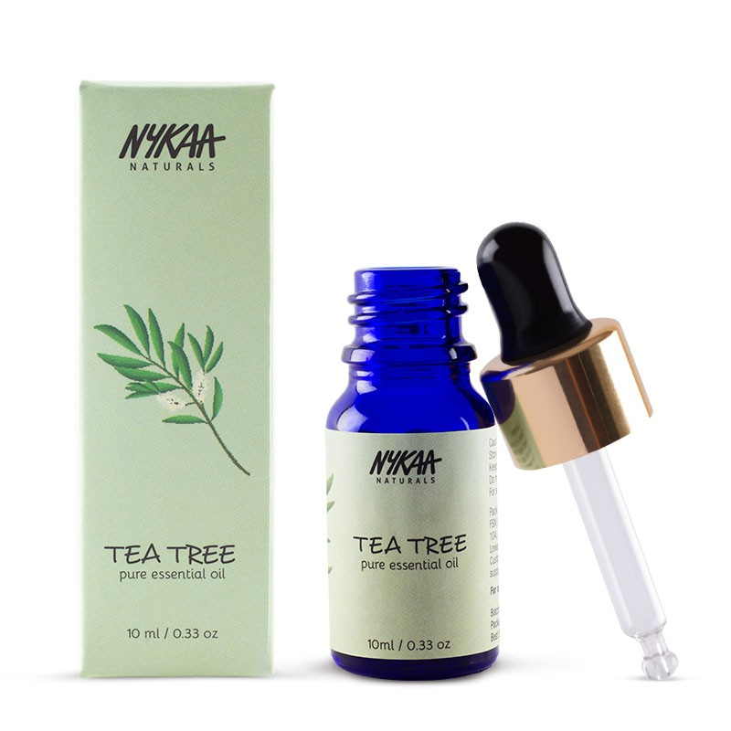 2 beauty hacks - nykaa tea tree oil