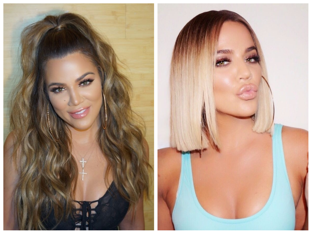 Khloe Kardashian Celebrity Hair Transformations