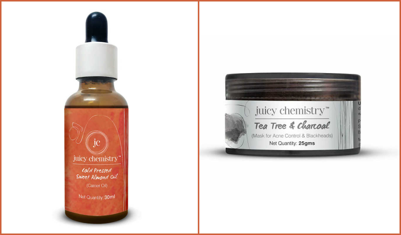 3 indian organic beauty brands Juicy Chemistry Almond Oil charcoal mask