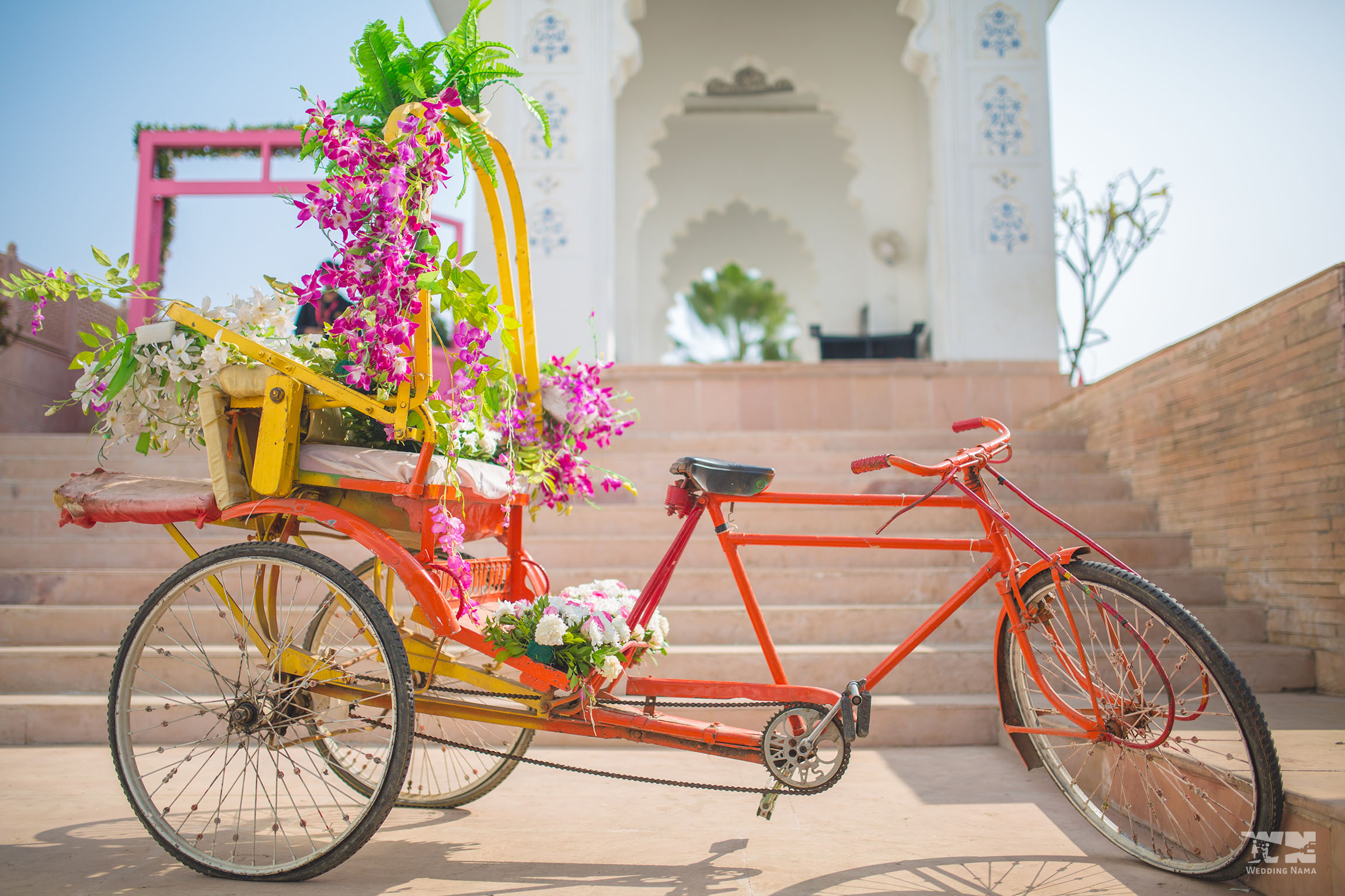 persian themed mehendi decorated rickshaw