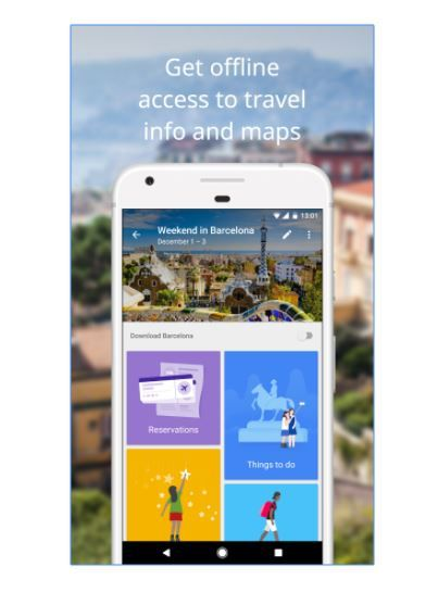 7 travel apps - google trips