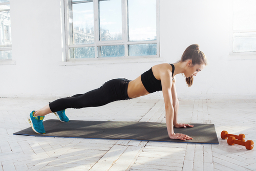 3 toned arms - pushups diligently