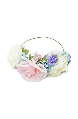 1. Rose Flower Crown Headband in Multi-Colour  Forever 21