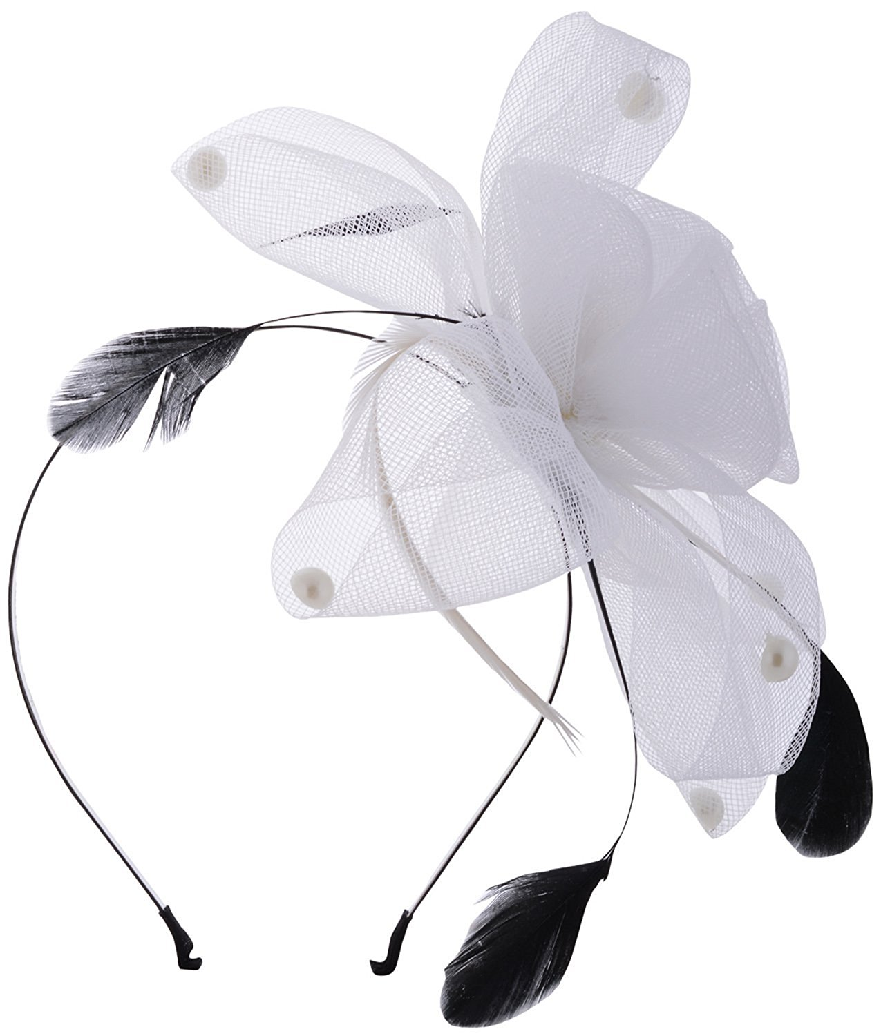 1. White Feather Fascinator Hair Band  Angel Closet