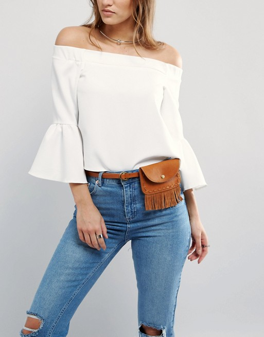 2 fanny pack - Pieces Fringed Fanny Pack Belt asos
