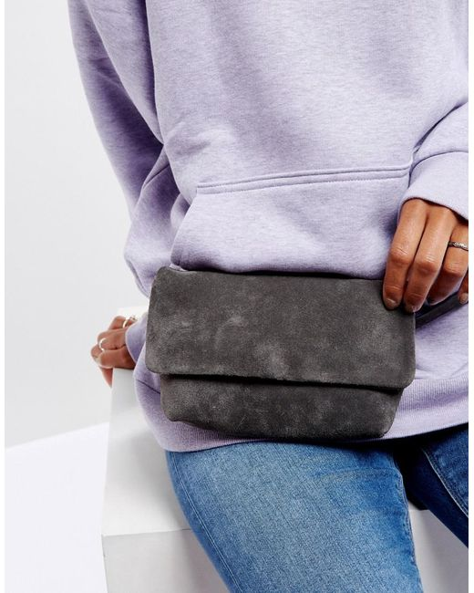 4 fanny pack - Vagabond Leather Fanny Pack in Gray Suede